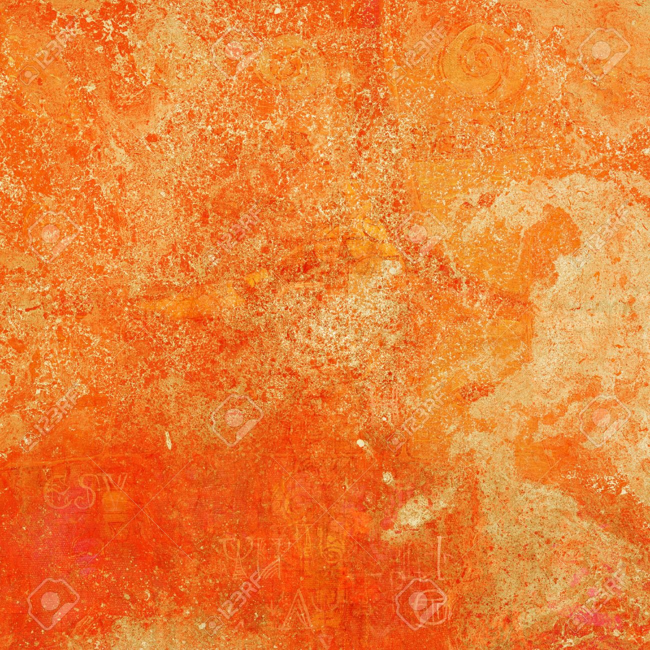 bright orange vintage background for creative artworks stock photo