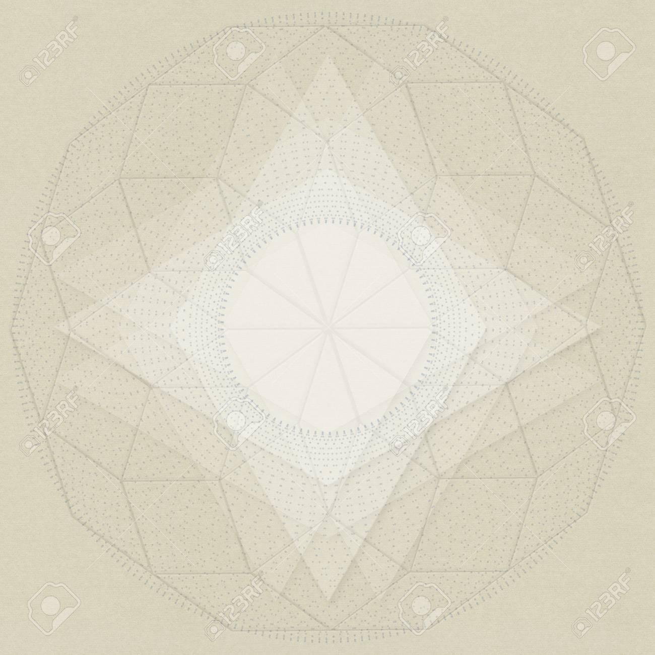神聖な幾何学シンボルの抽象的な...