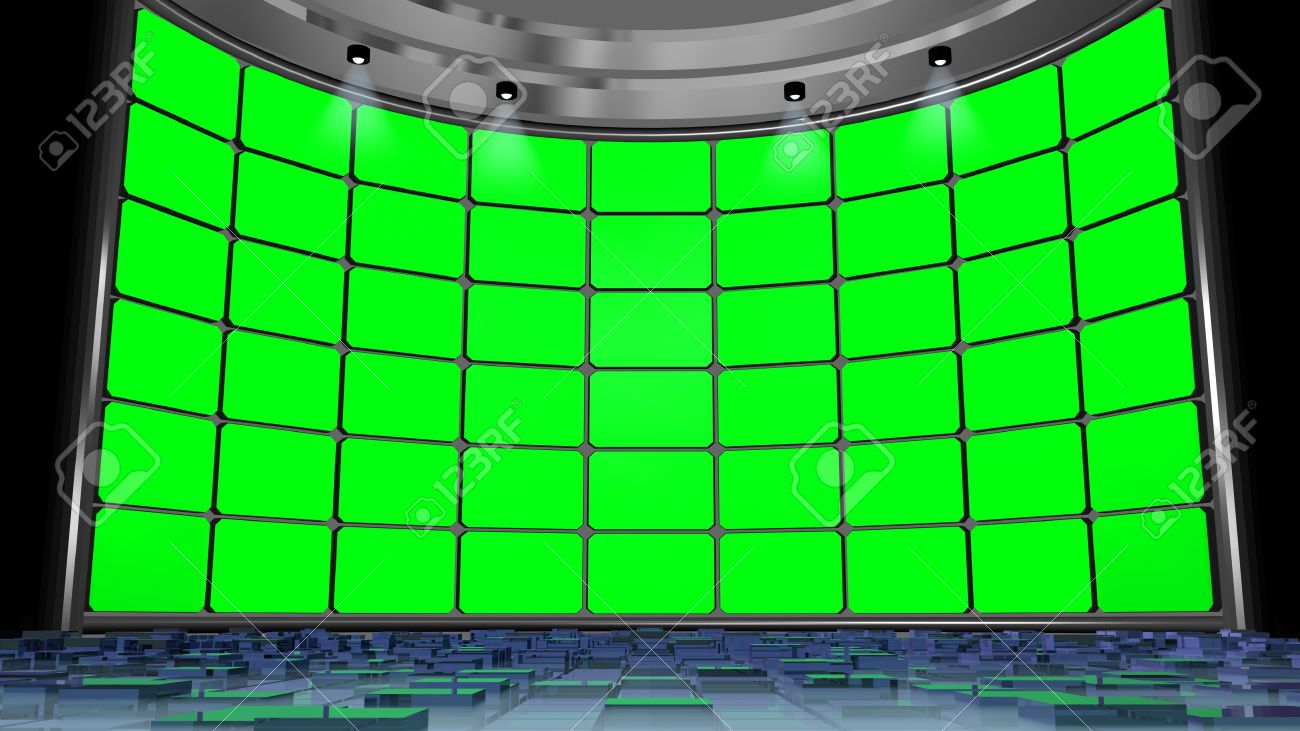 virtual studio green screen