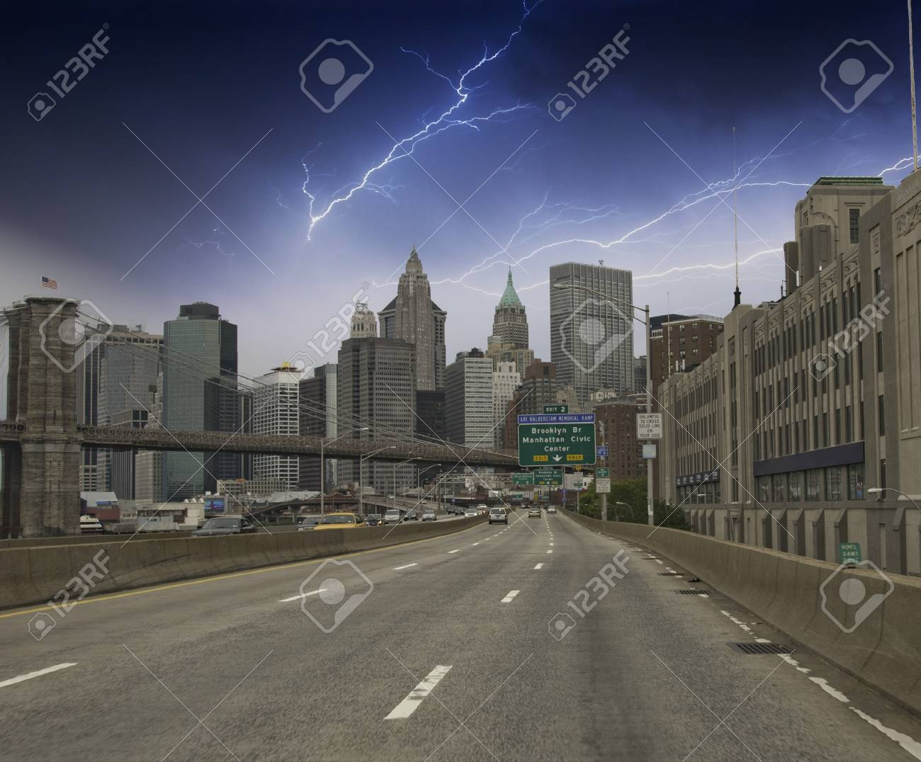 Clouds over New York City Skyscrapers, U.S.A. Stock Photo - 12201554