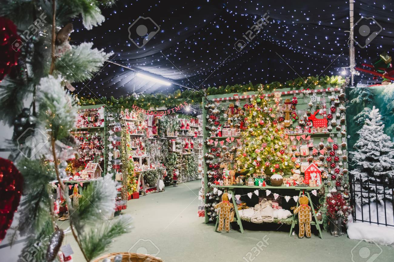stock photo whitchurch bristol uk november 19 2016 christmas decorations on sale in whitehall garden centre near lacock in wiltshire