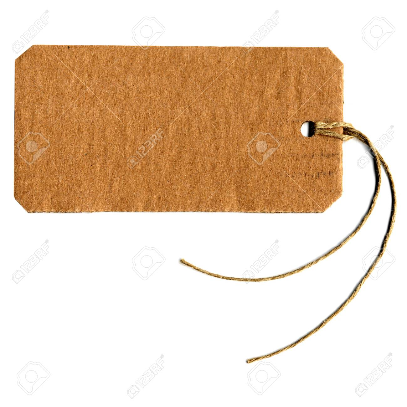 Price tag or address label with string Stock Photo - 5440605