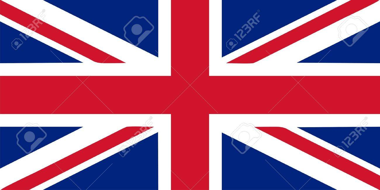 Union Jack - British flag isolated vector illustration Stock Vector - 5595451