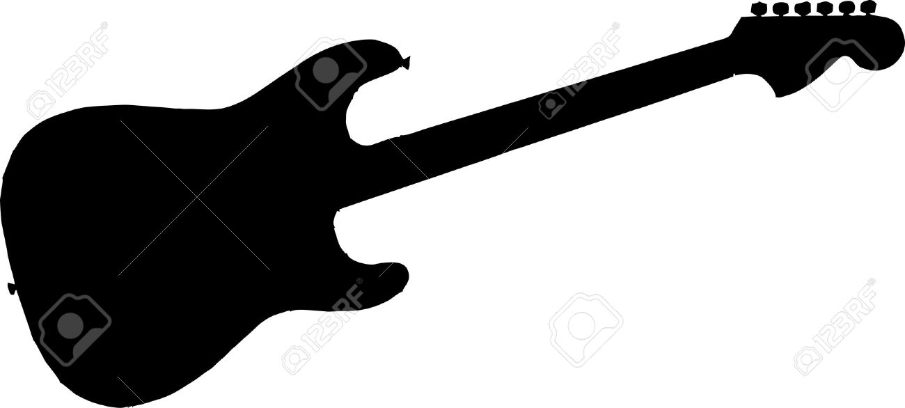 electric guitar silhouette isolated vector illustration royalty rh 123rf com guitar player silhouette free vector acoustic guitar silhouette vector free