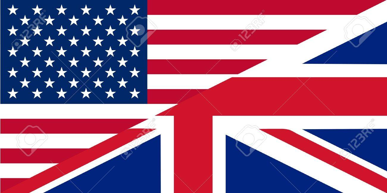American and British English language icon - isolated vector illustration Stock Vector - 13000033