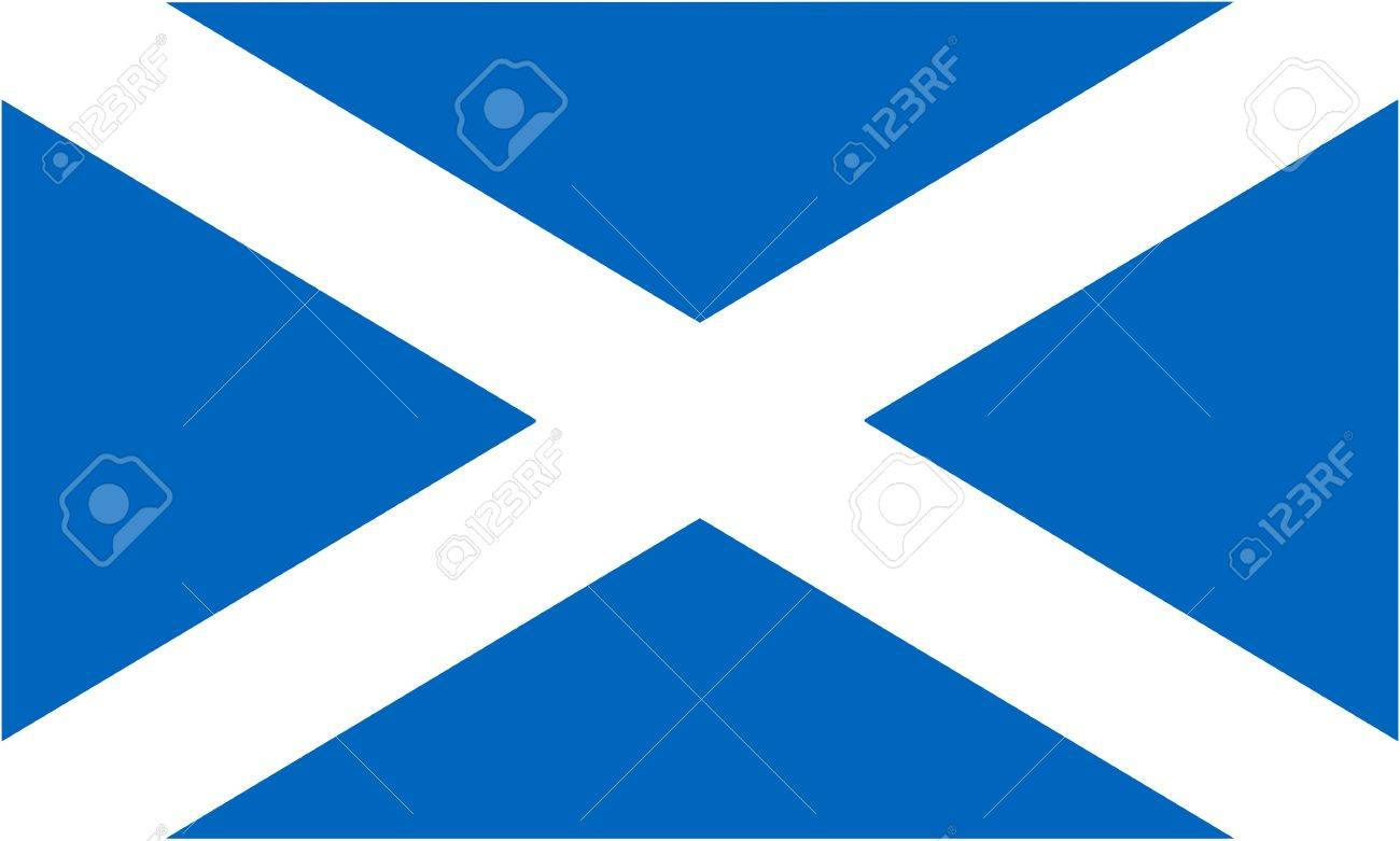 flag of Scotland (component of the Union Jack) - isolated vector illustration Stock Vector - 14002299