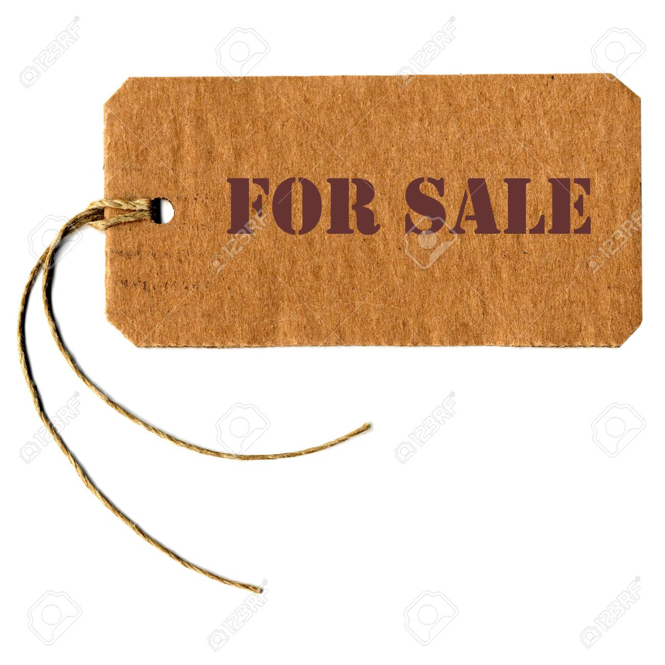 for sale -  tag label with string Stock Photo - 14130591