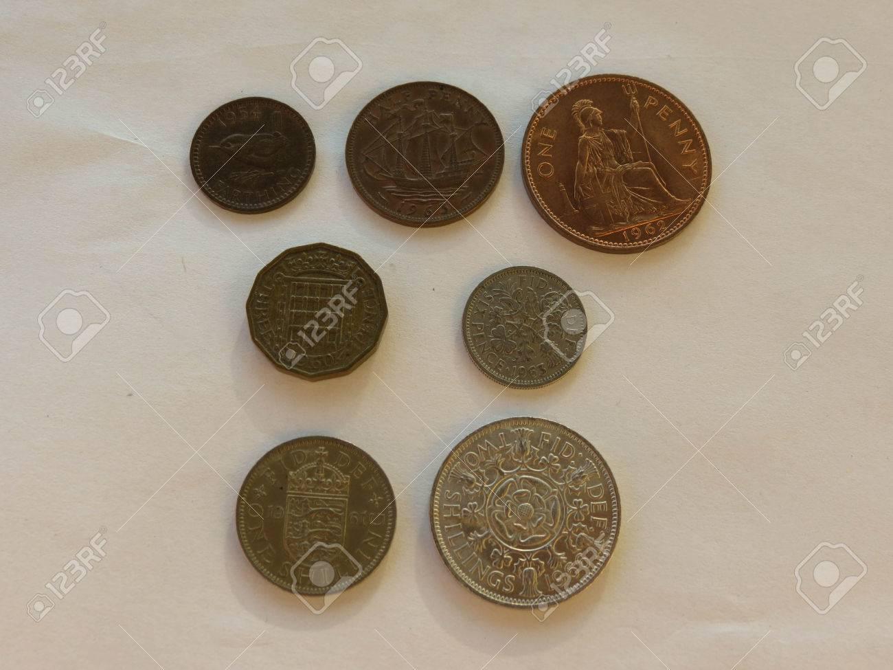 Pre Dezimal Gbp Britische Pfund Münzen Währung Des Vereinigten