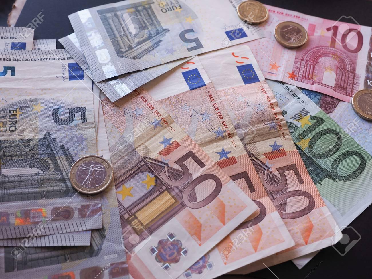 Euro Banknoten Und Münzen Eur Gesetzliches Zahlungsmittel Der
