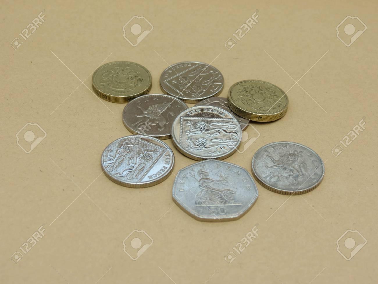 Britische Pfund Münzen Währung Des Vereinigten Königreichs