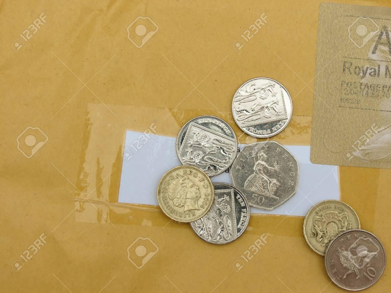 London Circa April 2014 Britische Pfund Münzen Währung Des