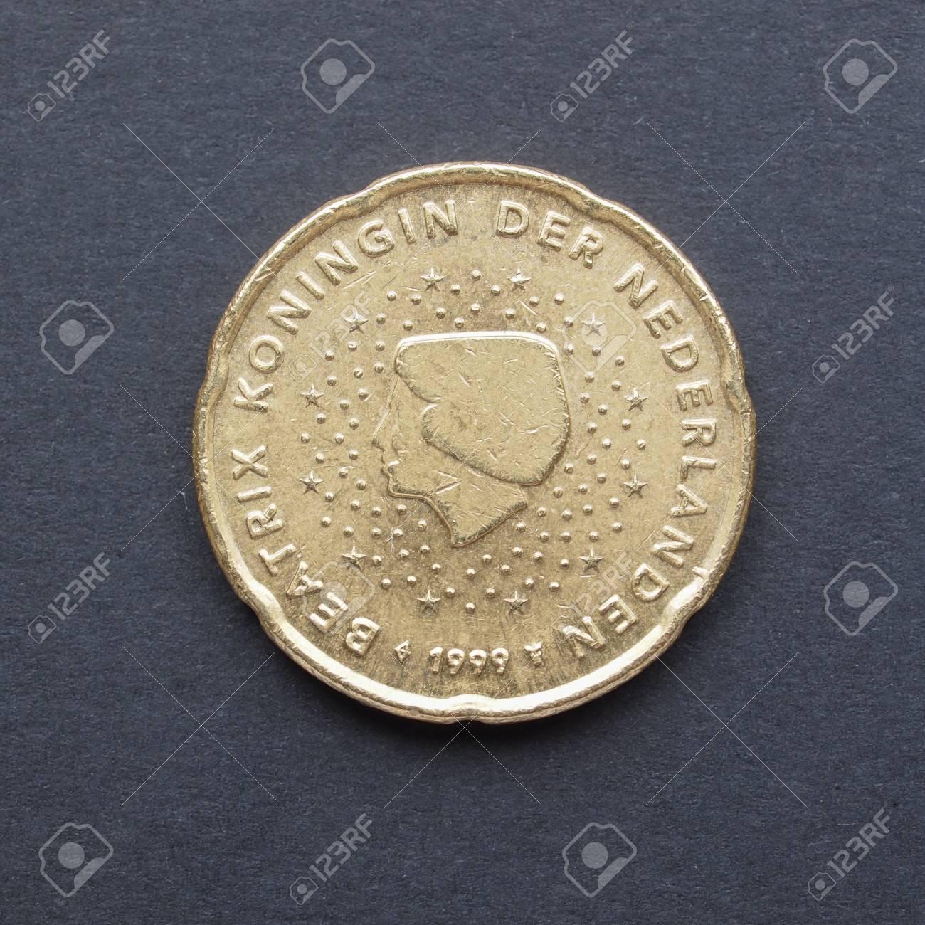 Währung Der Europäischen Union 20 Cent Münze Aus Den Niederlanden