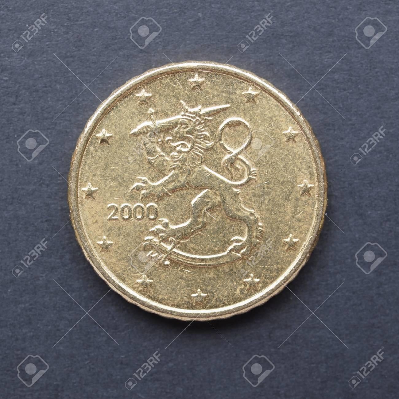 Währung Der Europäischen Union 50 Cent Münze Aus Finnland