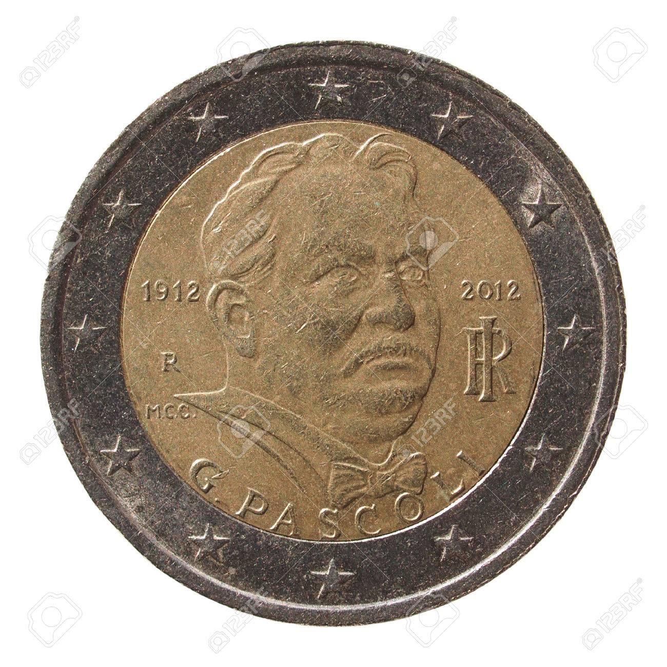 Gedenk 2 Euro Münze Italien 2012 Dichter Giovanni Pascoli