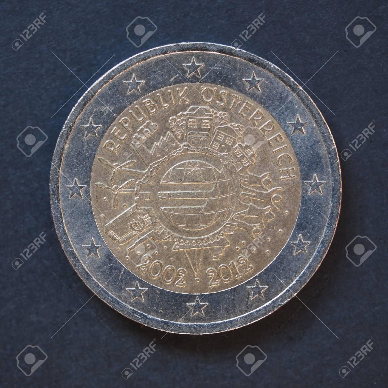 Gedenk 2 Euro Münze österreich 2012 10 Jahrestag Der Euro