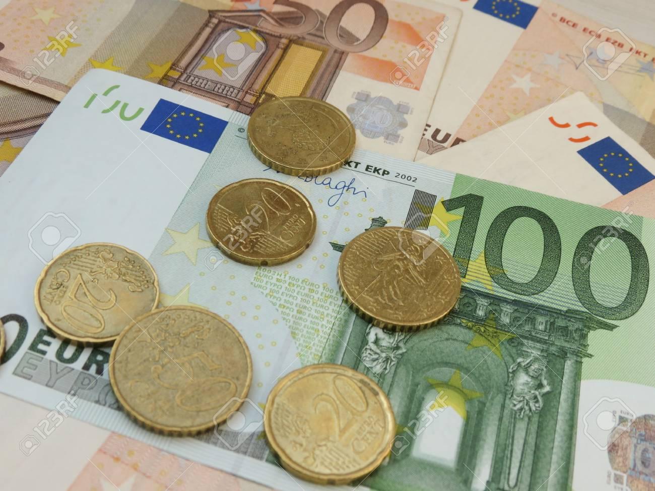 Euro Eur Banknoten Und Münzen Gesetzliches Zahlungsmittel Der