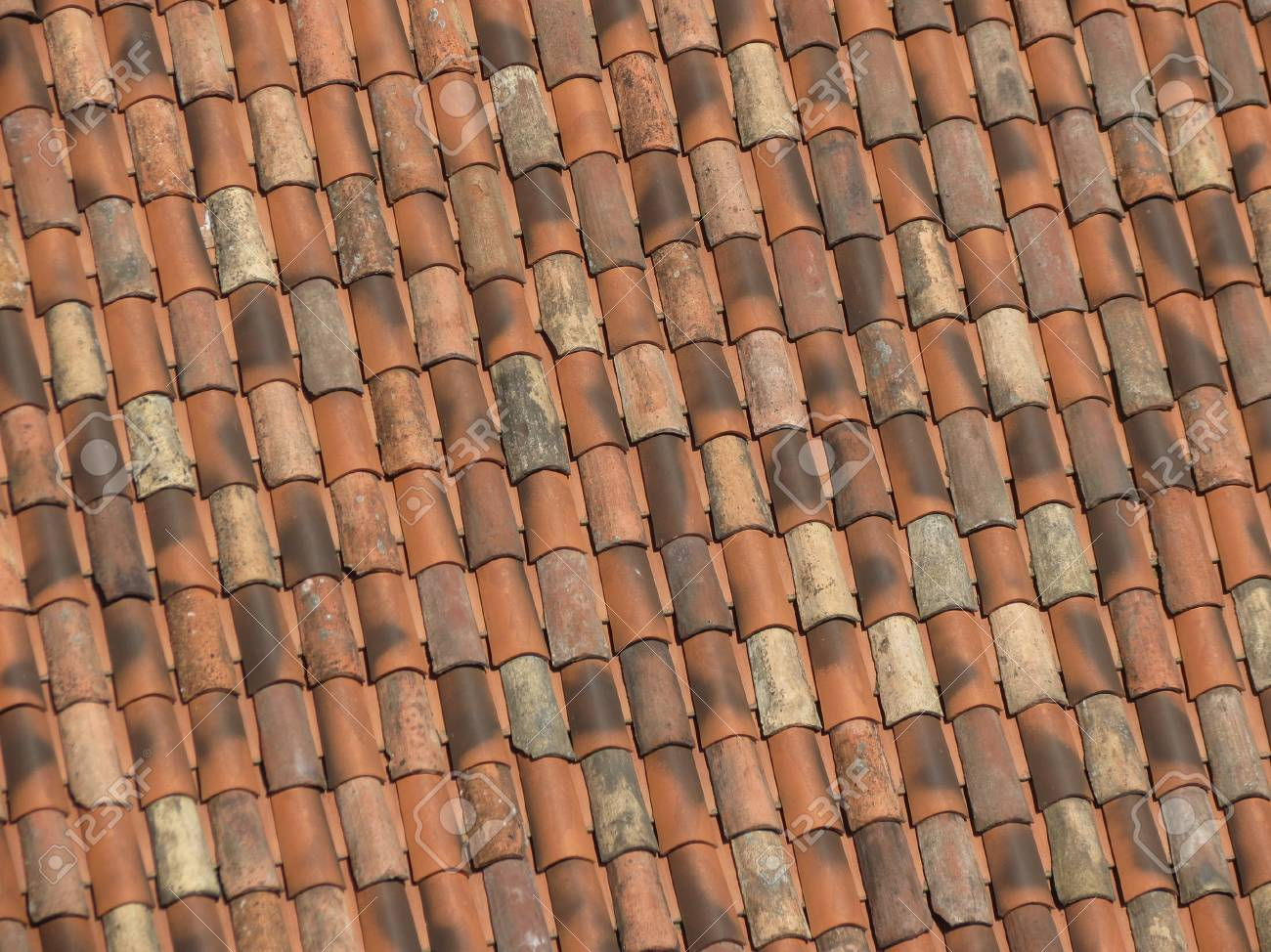 Red Brick Tile Roof Texture Useful As A Background Stock Photo Picture And Royalty Free Image Image 82419042