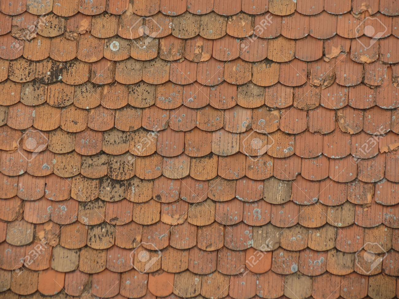 Brick Roof Texture red brick roof tile texture useful as a background stock photo