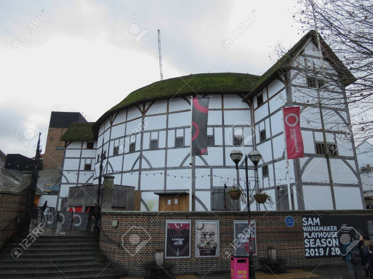 London Uk Circa November 2019 The Shakespeare Globe Theatre Stock Photo Picture And Royalty Free Image Image 137710094