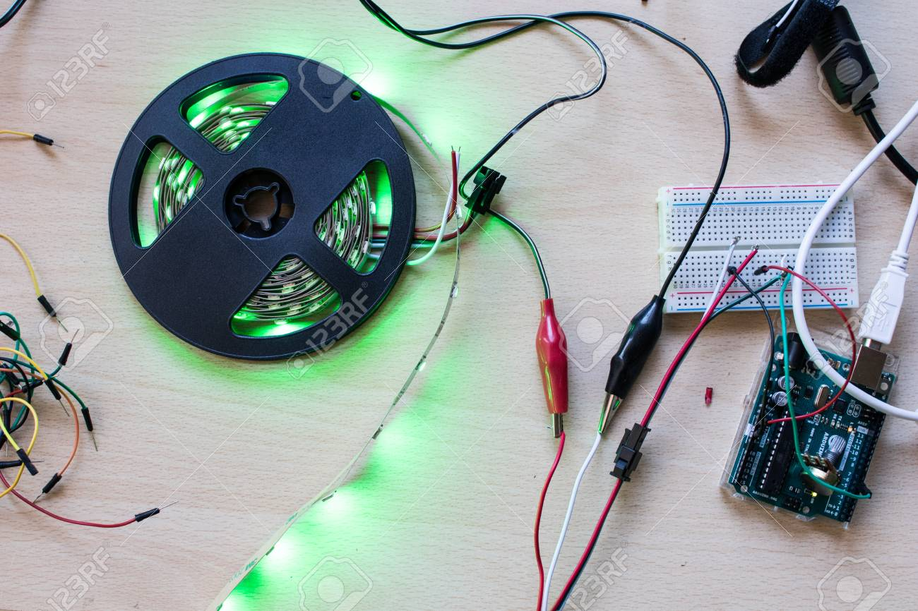 RGB Led Strip Addressable Controlled By A Microcontroller Open ...