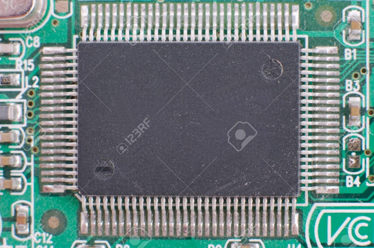 Close-up of computer chip with rear view. Stock Photo - 10609106