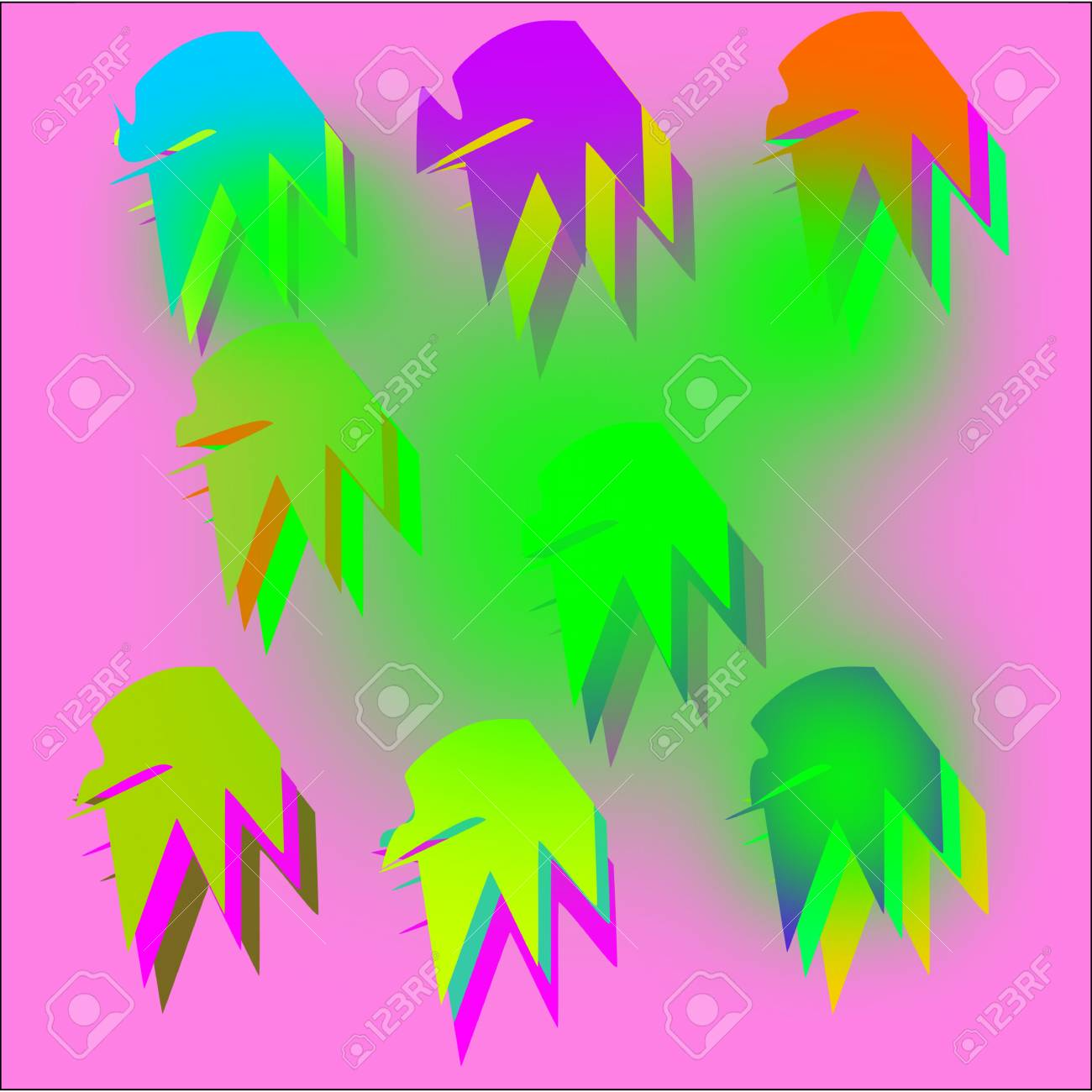Abstract Colored Background For Websites Design For Greeting