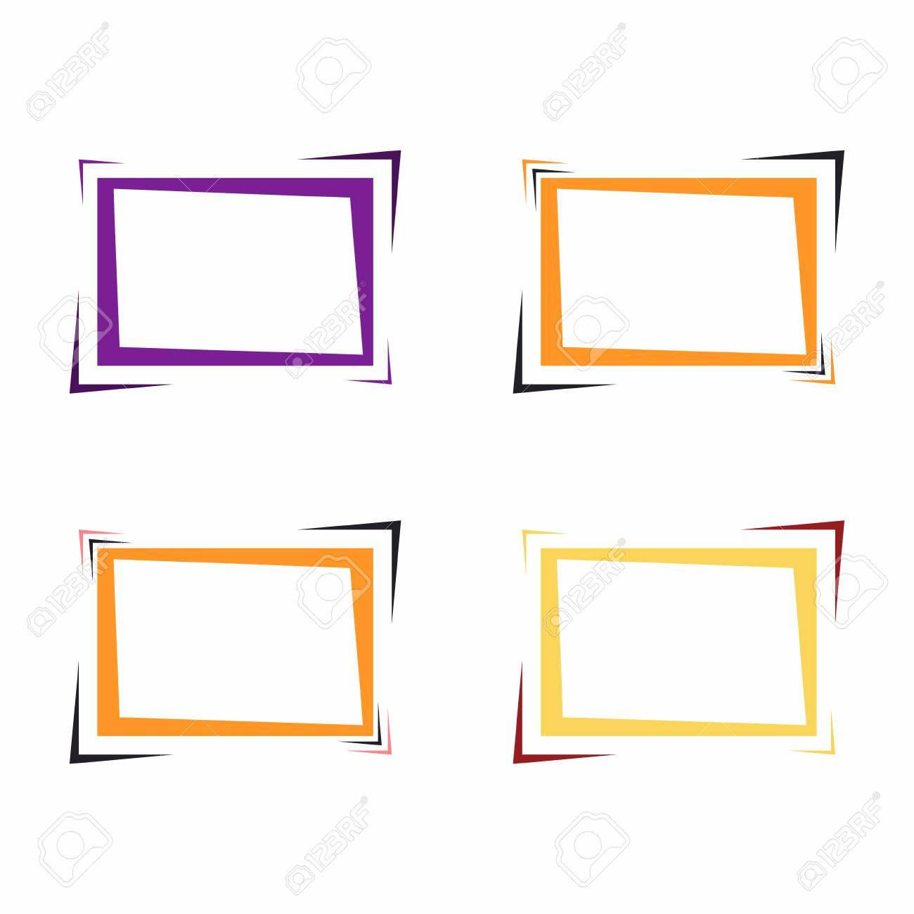 Set Of Bright Frames For Text Or Banner. Web Design Of Banners ...