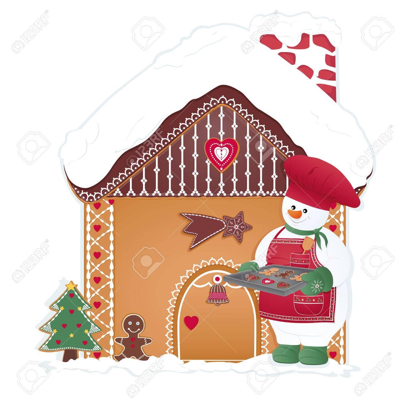 Muñeco De Nieve De La Navidad Del Pan De Jengibre Galletas Cocinar ...