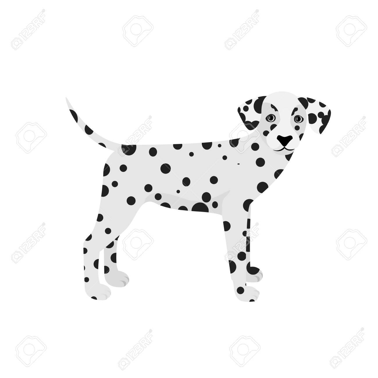 Perro Dálmata Aislado En Un Fondo Blanco Ilustraciones Vectoriales ...