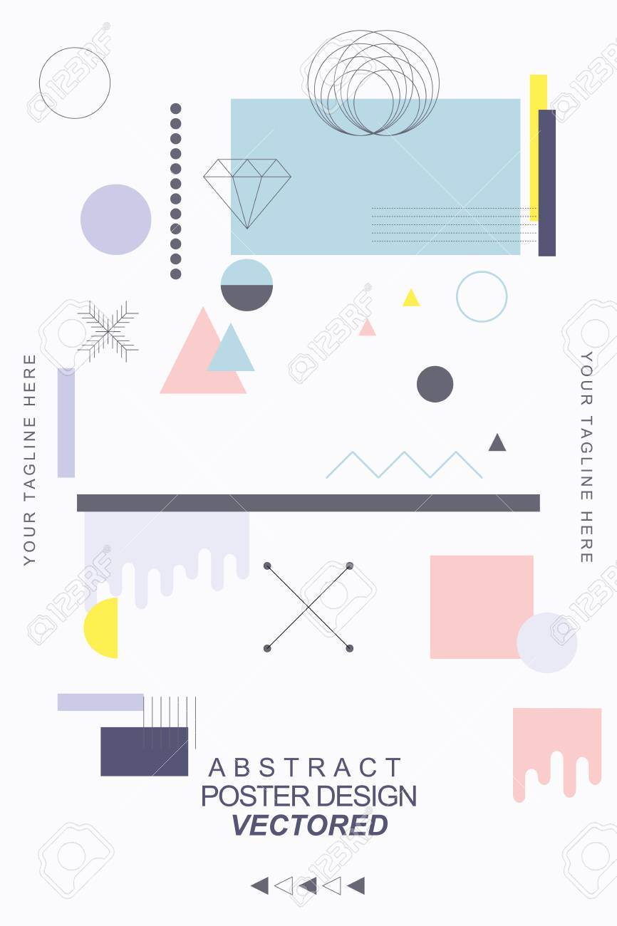 Vector Abstract Covers Templates, Graphic Poster with Memphis