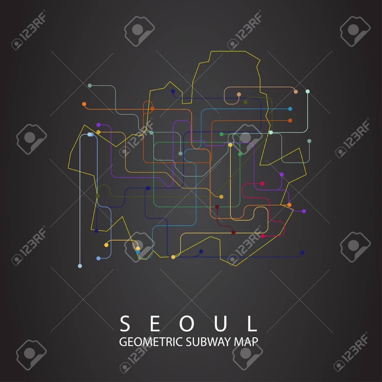 Eoul Subway Map.Seoul Metro Map