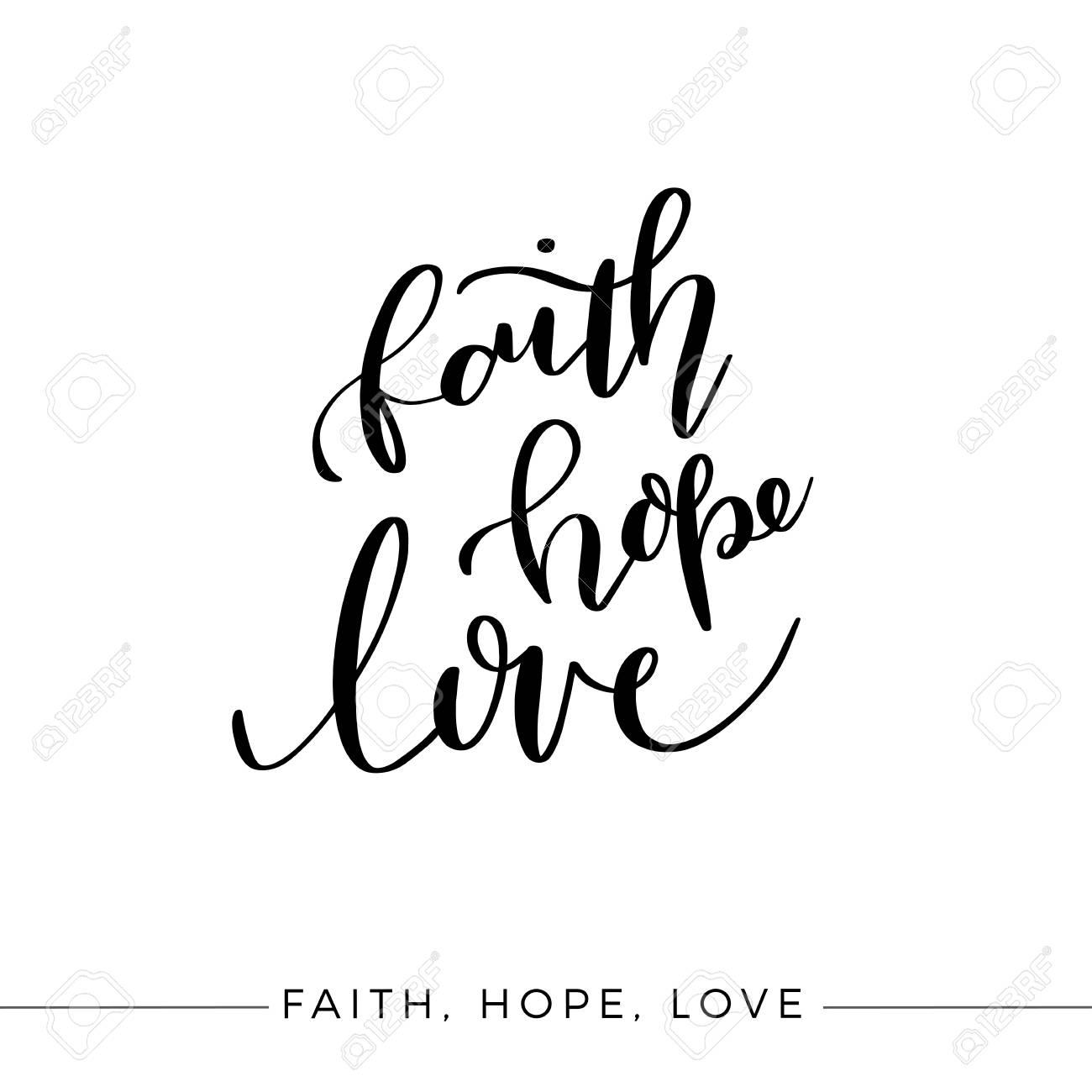 Faith Hope Love, Vector Bible Calligraphy, Faith Hand Lettering,