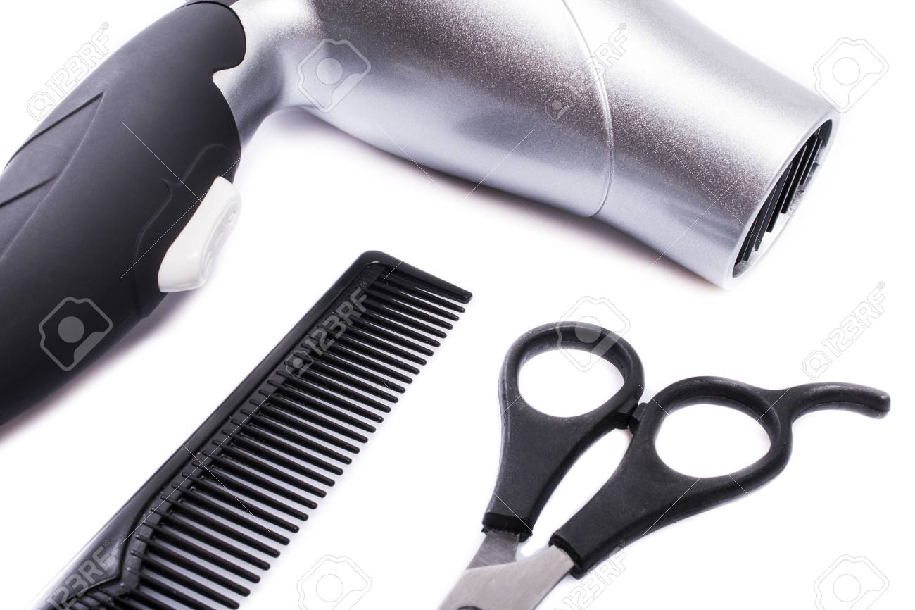 Black And White Hair Styling Tools Stock Photo Picture And Royalty