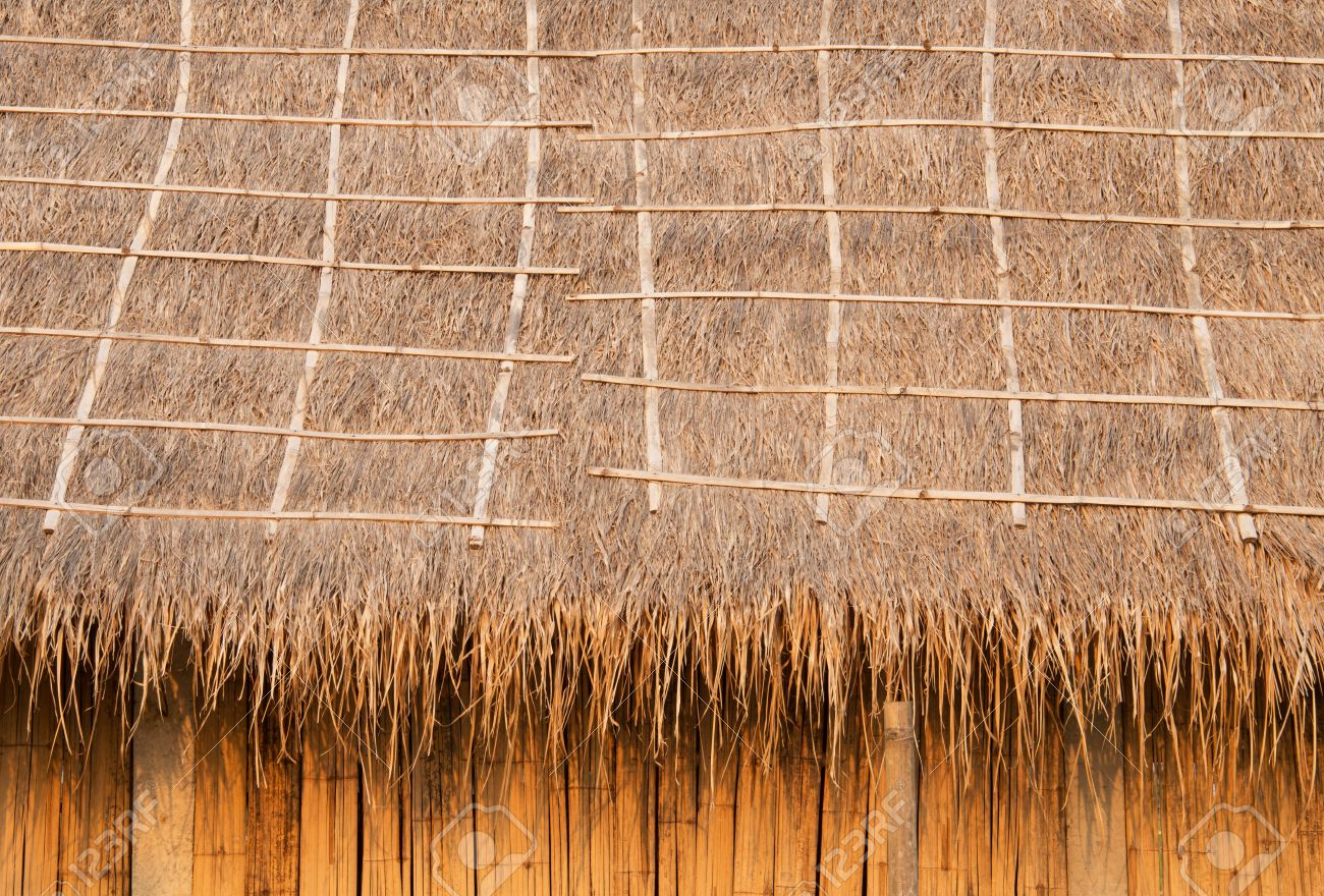 Delightful Pattern Background Of Thatched Roof Made From Natural Materials Stock Photo    20777845
