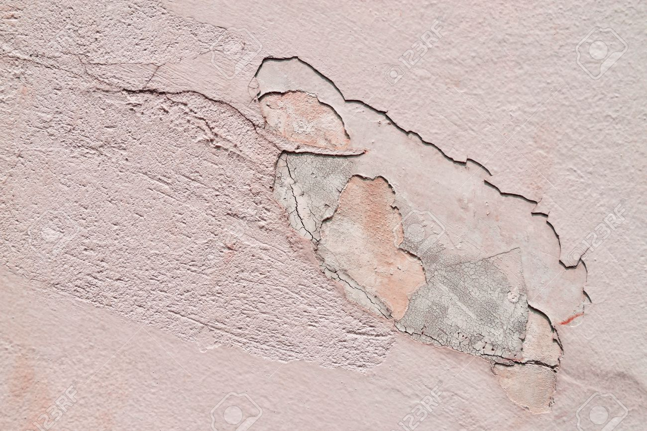 Abstract background of grunge concrete painted pink wall disintegration Stock Photo - 20777790