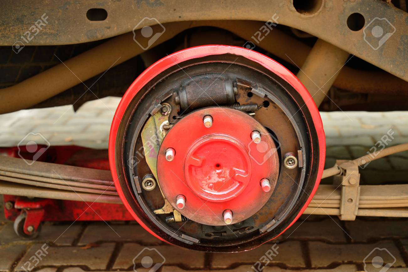 Drum Brakes Disc System Of Pickup Car Stock Photo Picture And 20777773