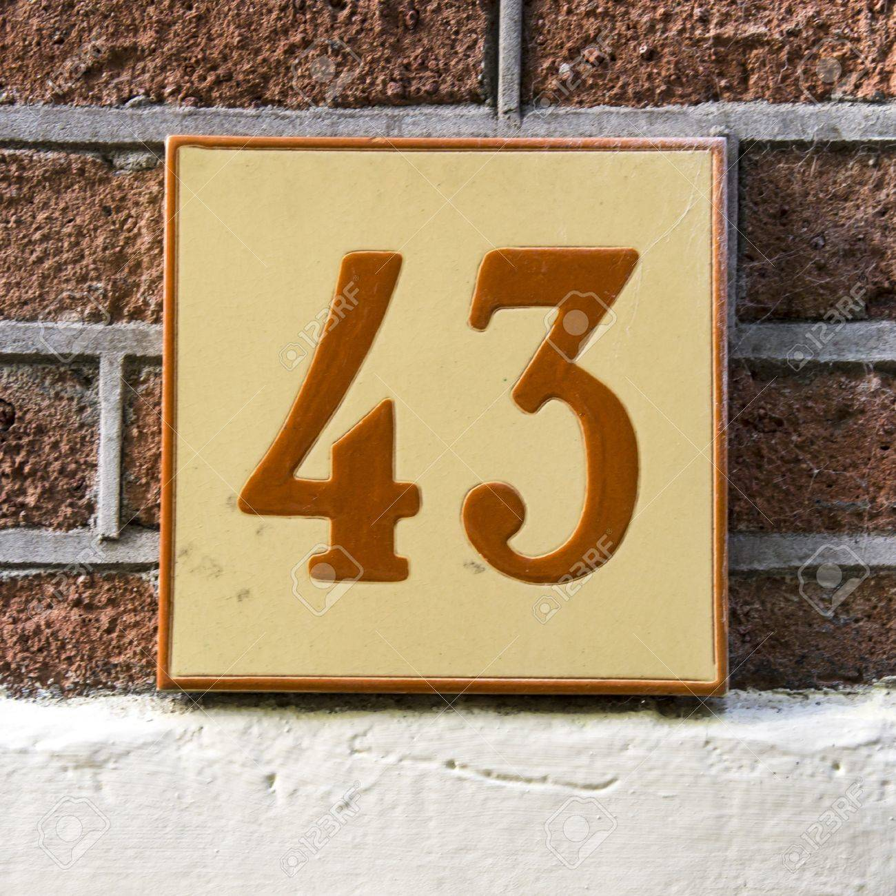 Ceramic tile house numbers images tile flooring design ideas ceramic tile with the house number forty three stock photo ceramic tile with the house number dailygadgetfo Images