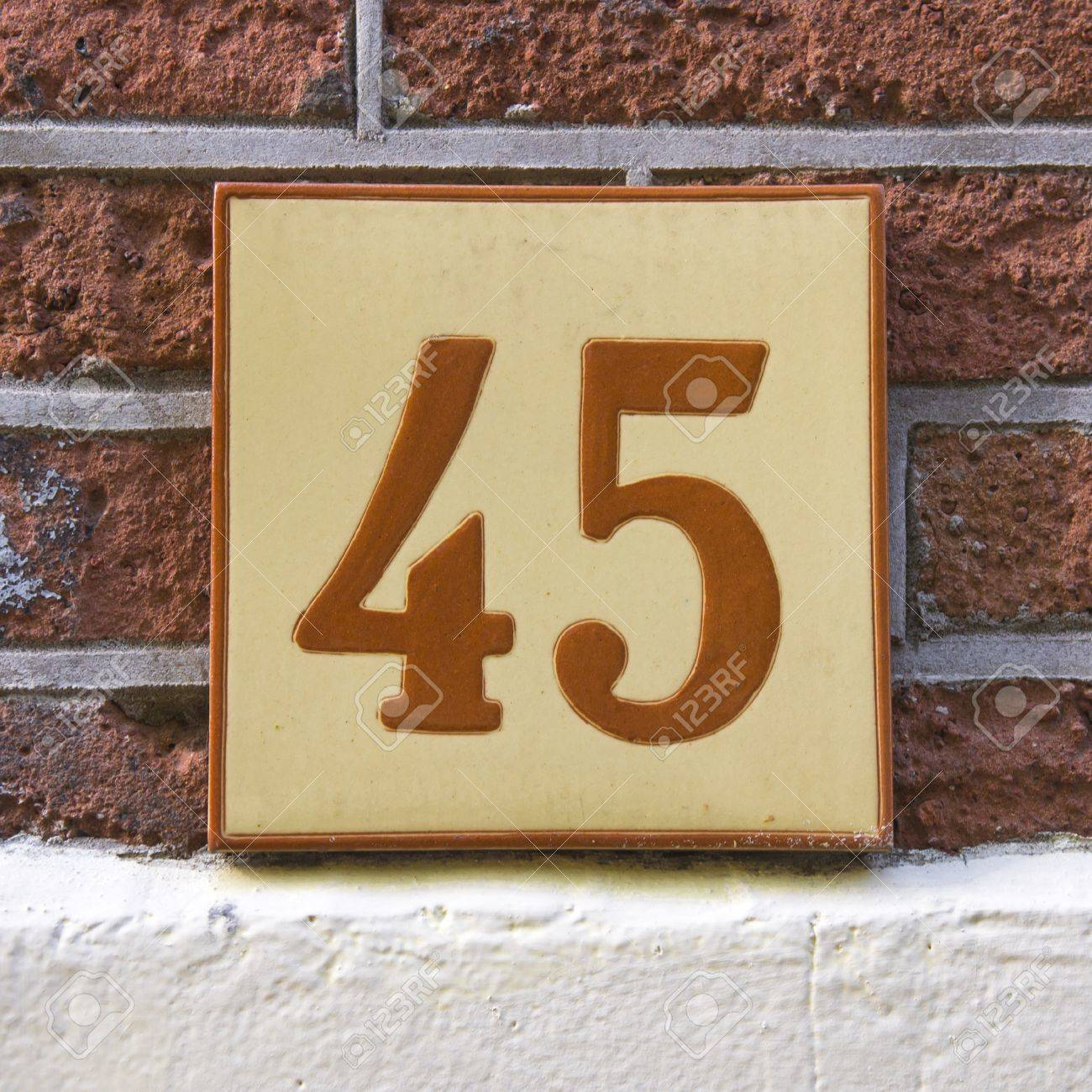 Ceramic tile address numbers image collections tile flooring ceramic tile with the house number forty five stock photo picture ceramic tile with the house dailygadgetfo Choice Image