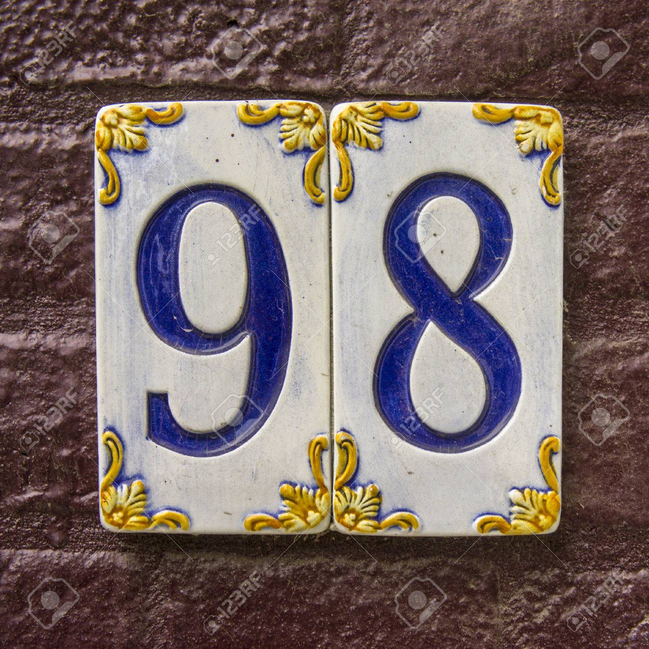 Mexican ceramic tile house numbers gallery tile flooring design ceramic tile house numbers choice image tile flooring design ideas house number ninety eight on two dailygadgetfo Image collections