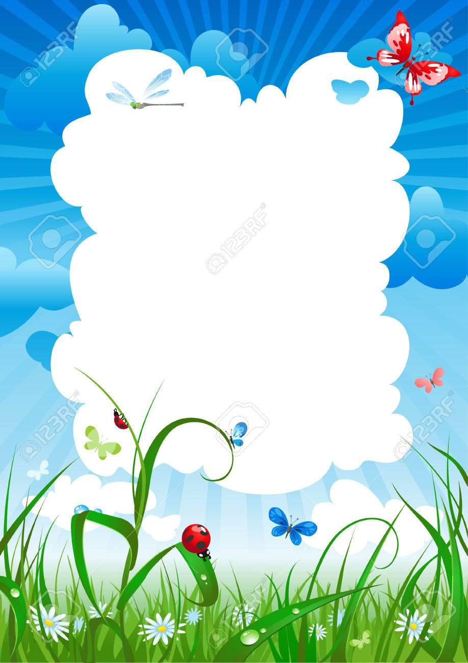 summer meadow background Stock Vector - 5860479