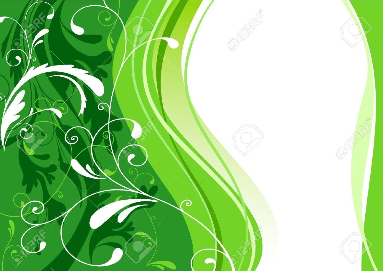 abstract green design Stock Vector - 5860459