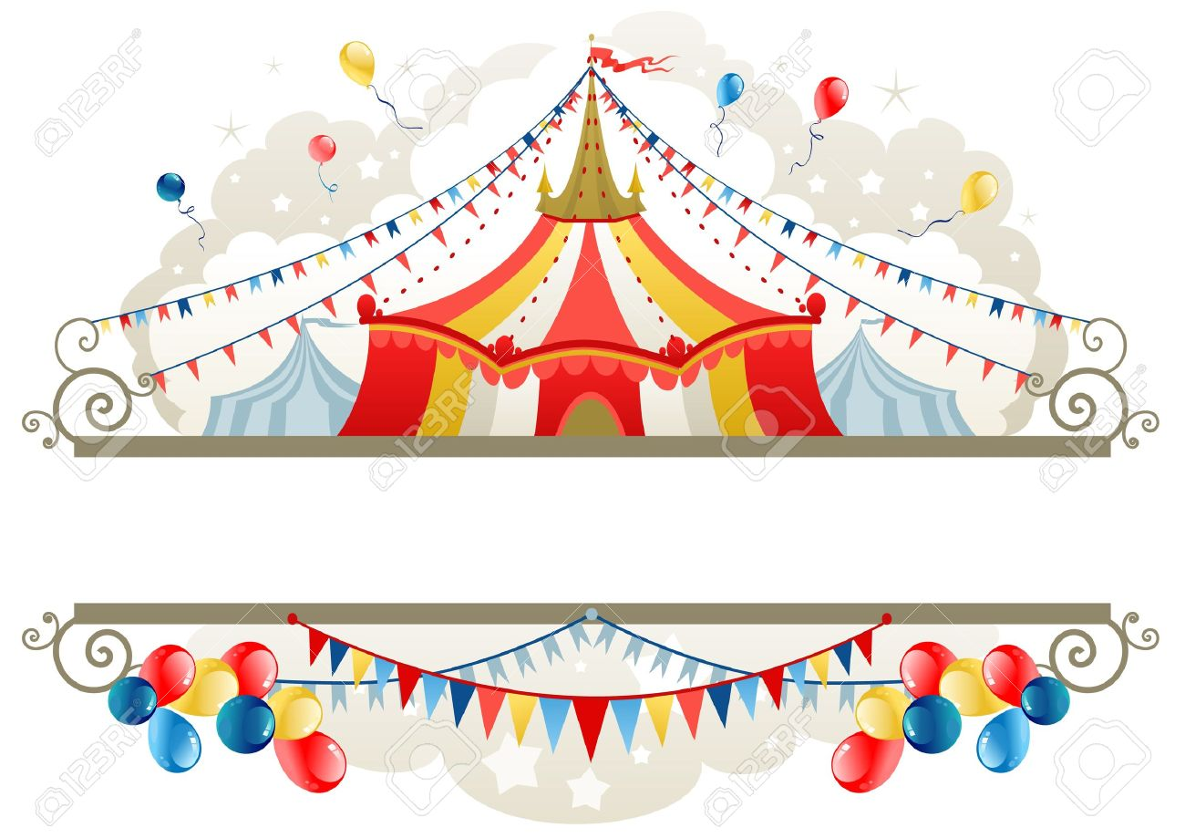 Circus tent frame with space for text Stock Vector - 9267178