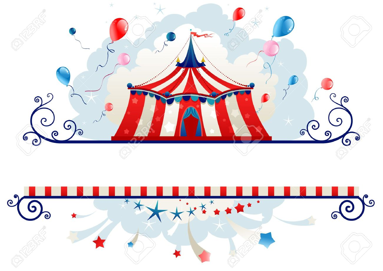 Frame With Circus Tent With Space For Text Royalty Free Cliparts ...