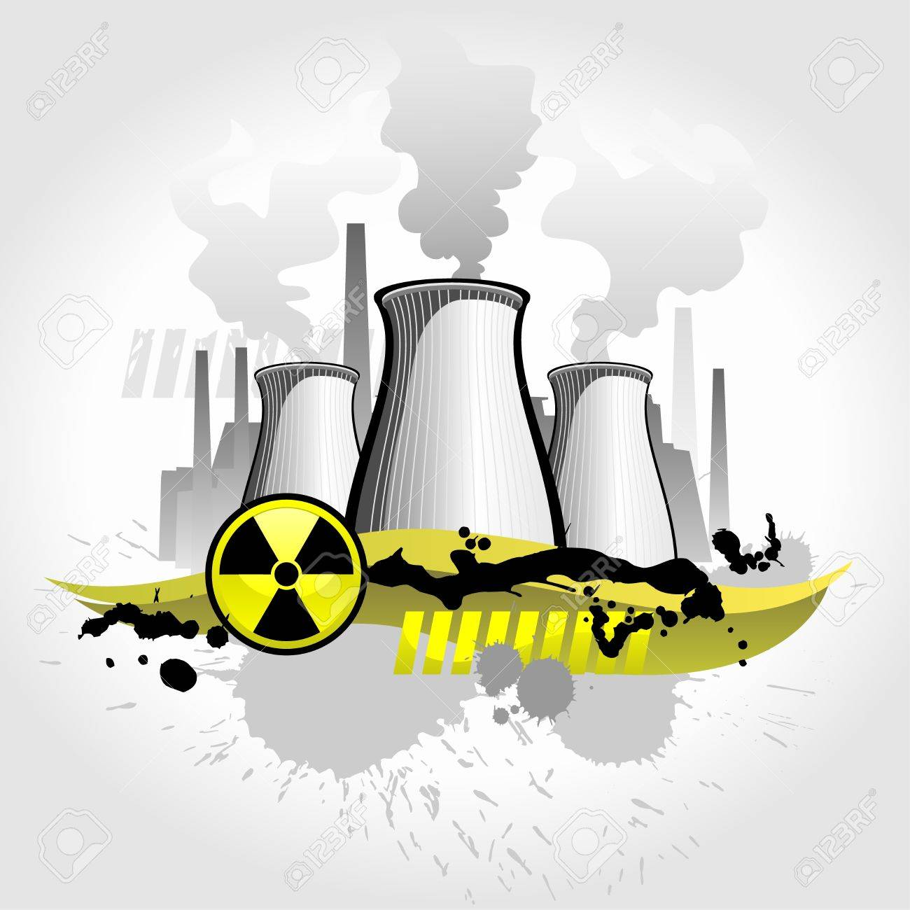 Nuclear plant abstract background - 9267172