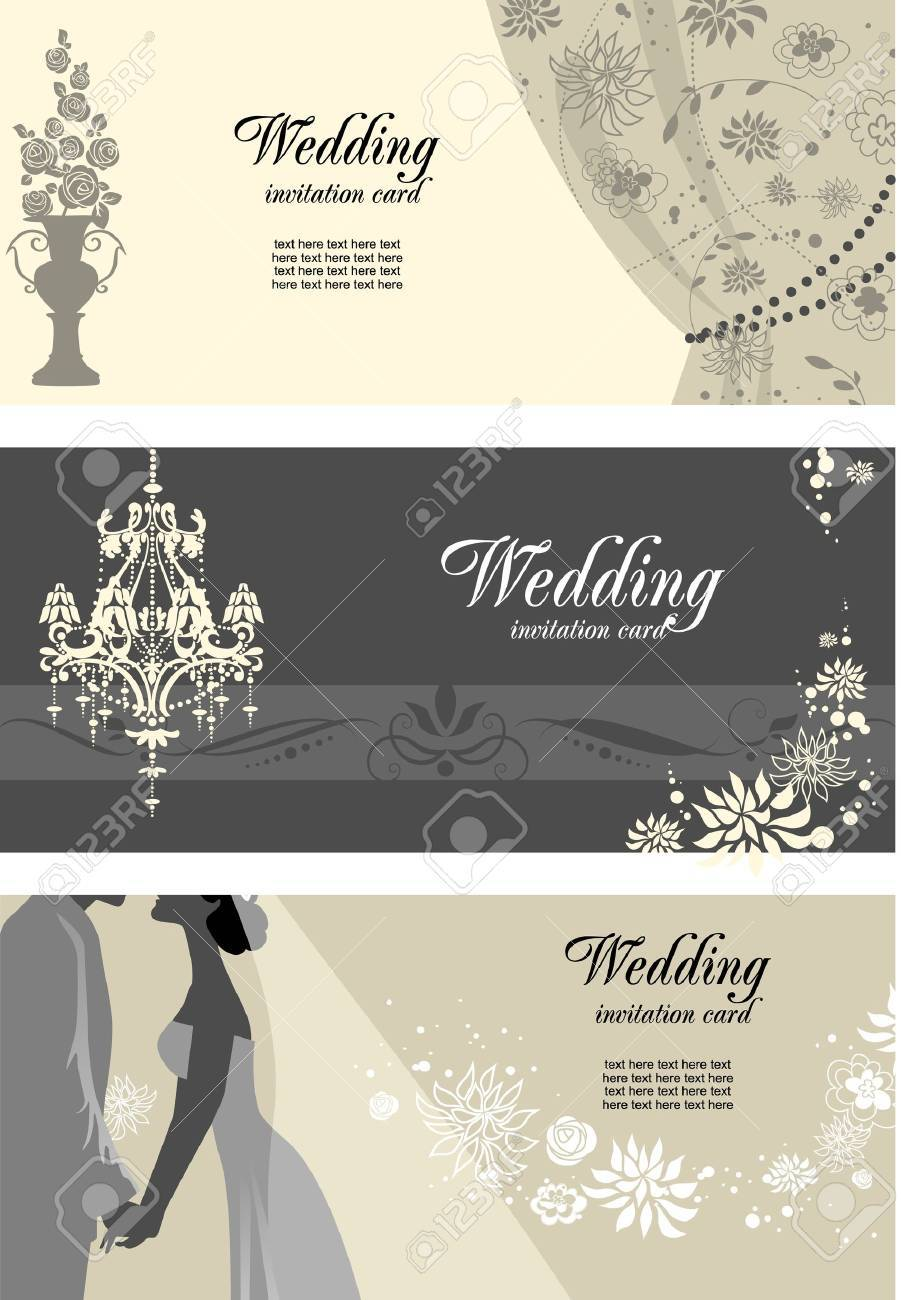 Wedding cards with space for text - 9334056