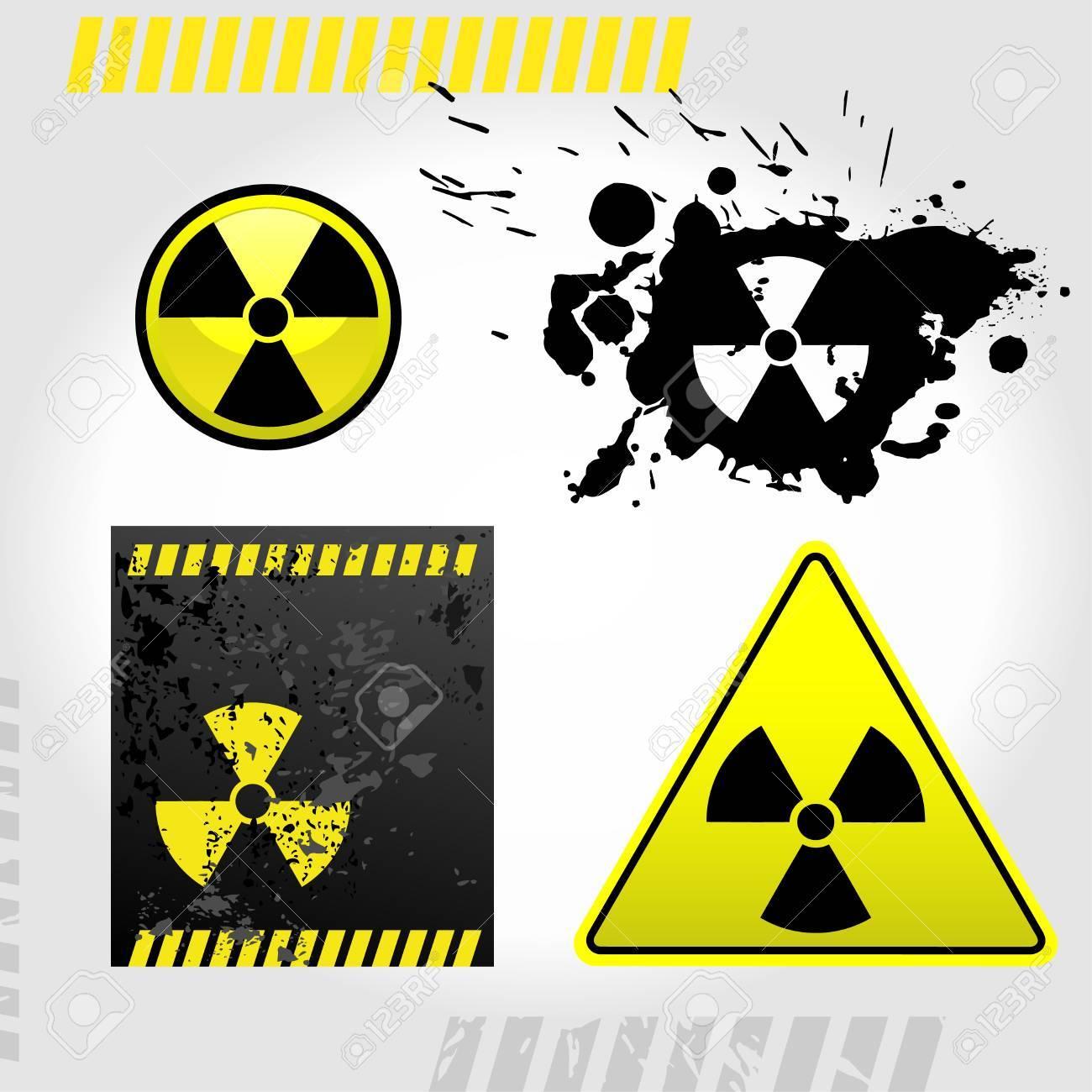 Warning radiation signs Stock Vector - 9334029