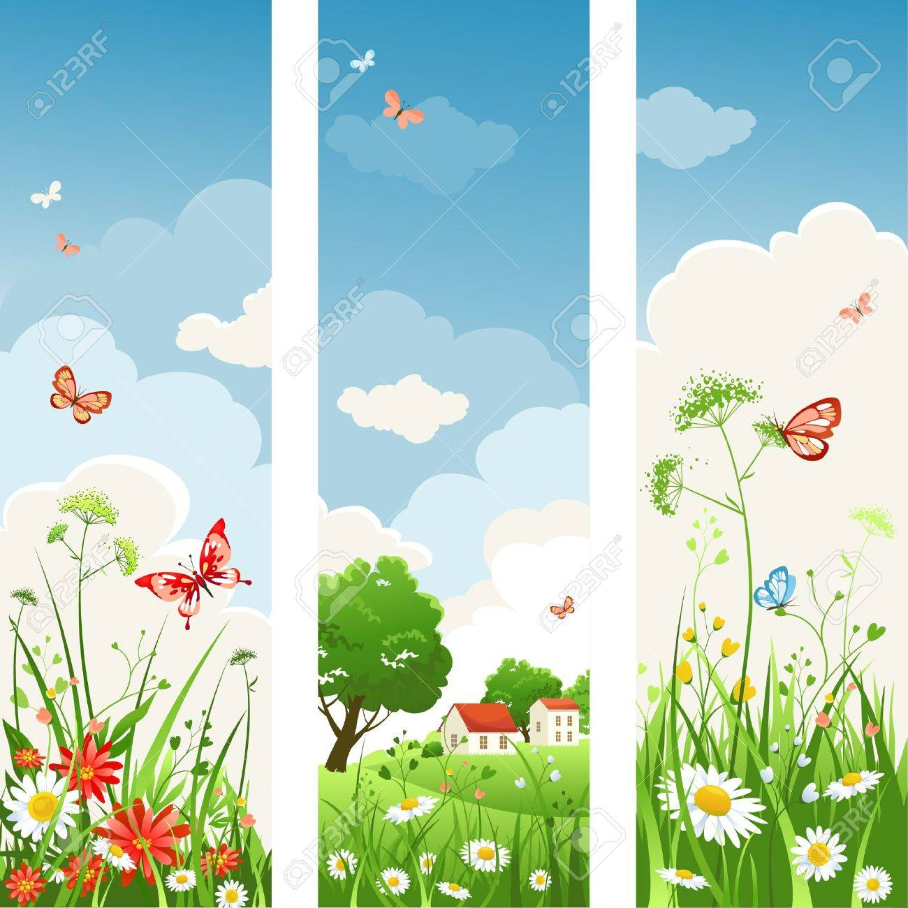 Summer day banners Stock Vector - 9334061