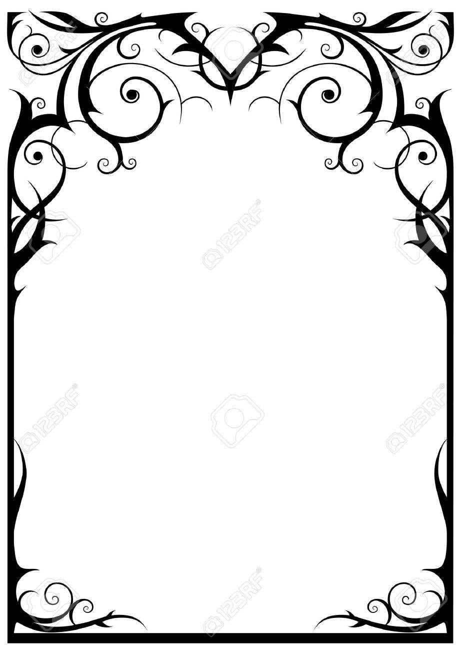 Fantasy frame with space for text Stock Vector - 9813451