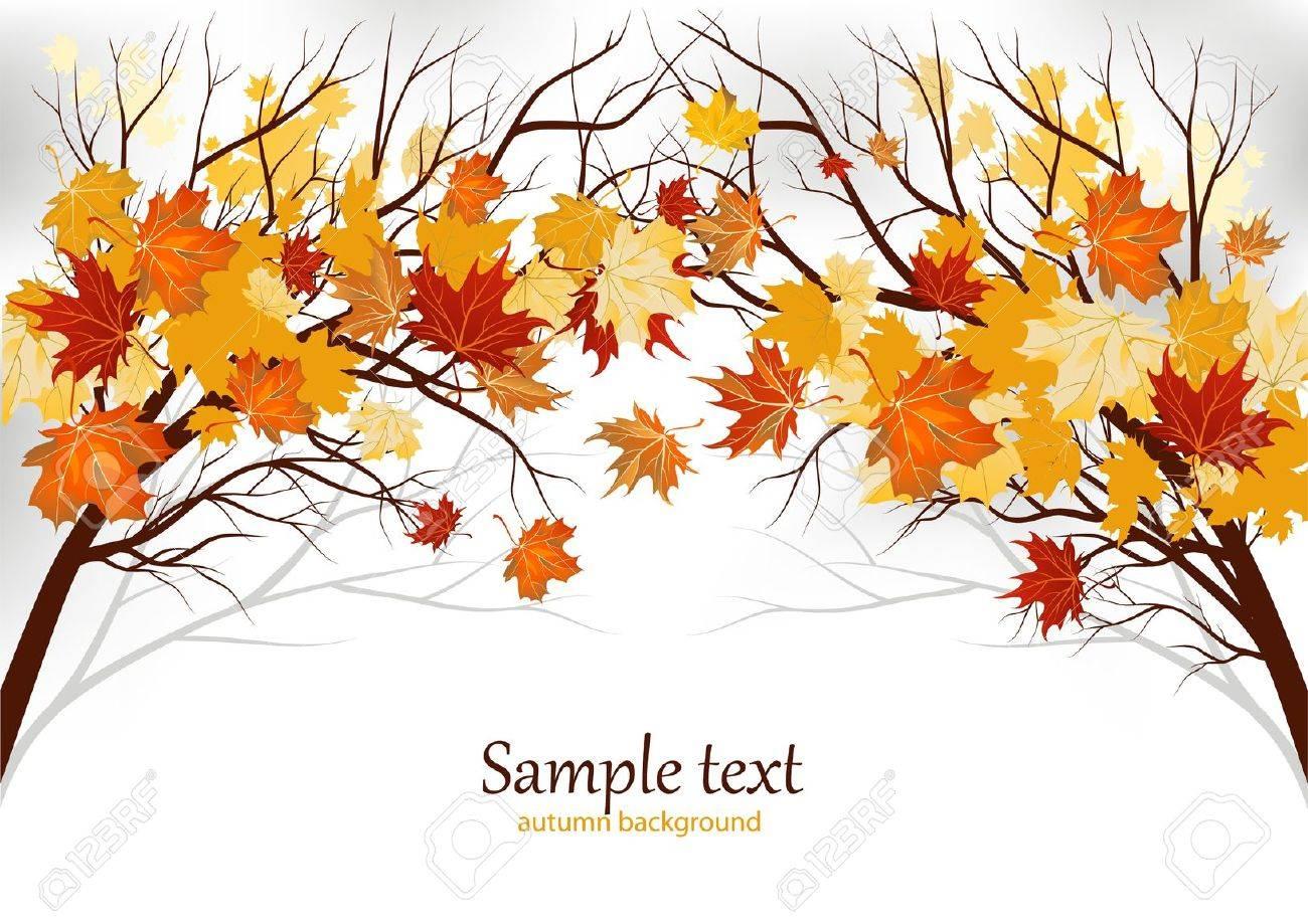 Autumn background Stock Vector - 9932470