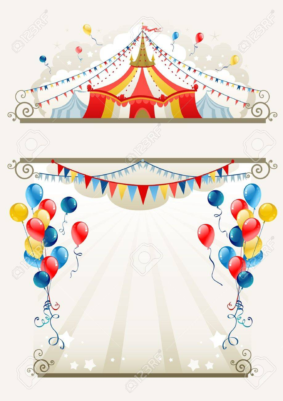 Circus Frame With Space For Text Royalty Free Cliparts, Vectors, And ...